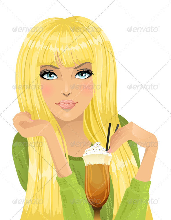 GraphicRiver Portrait of Girl with Cocktail 4599304