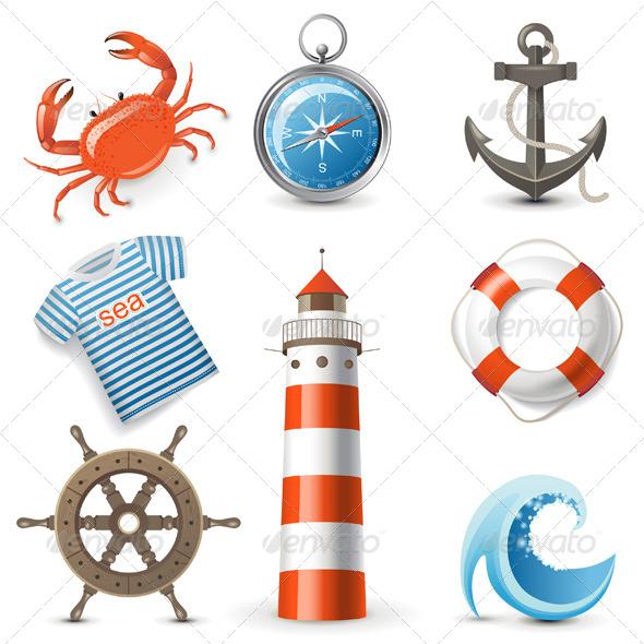 GraphicRiver Sea Icons 4599665