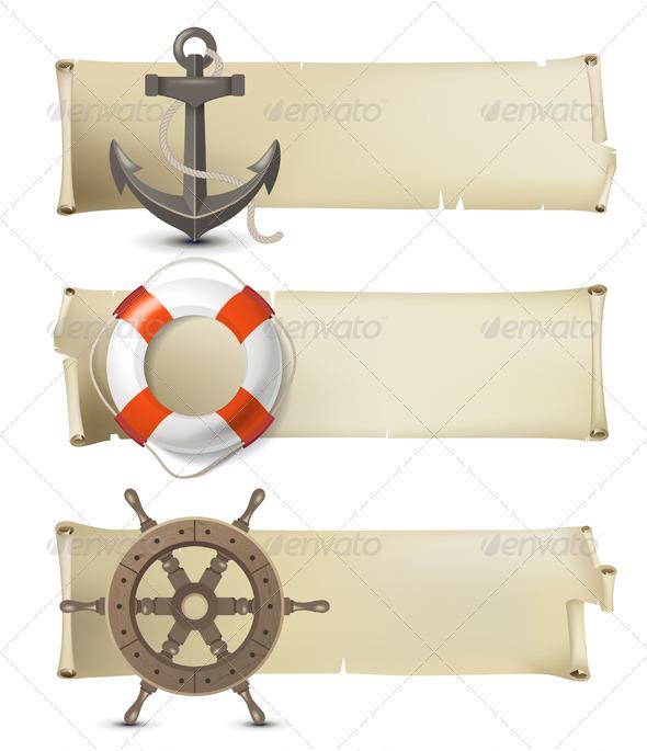 GraphicRiver Sea Banners 4599670
