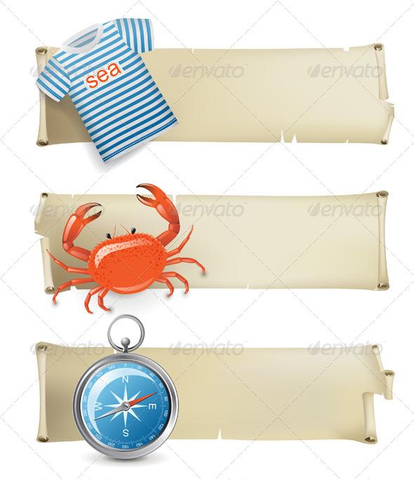 GraphicRiver Sea Banners 4599673
