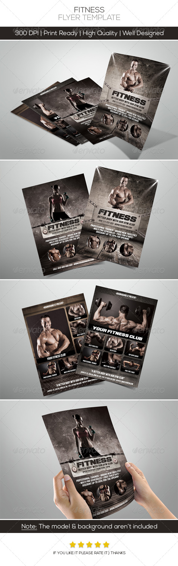 GraphicRiver Premium Fitness Flyers 4520745