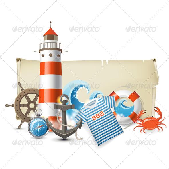GraphicRiver Sea Banners 4599706