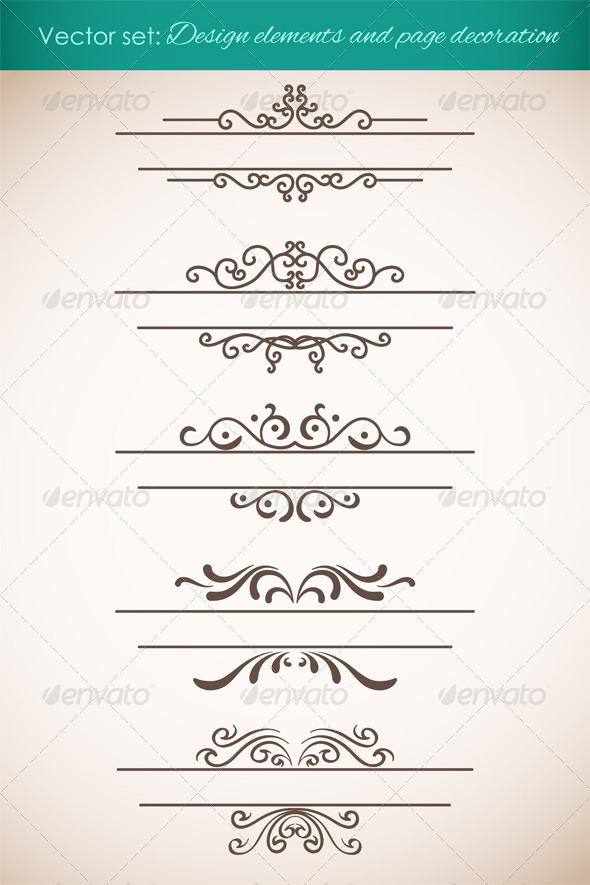 GraphicRiver Design Elements and Page Decorations Set 4599803