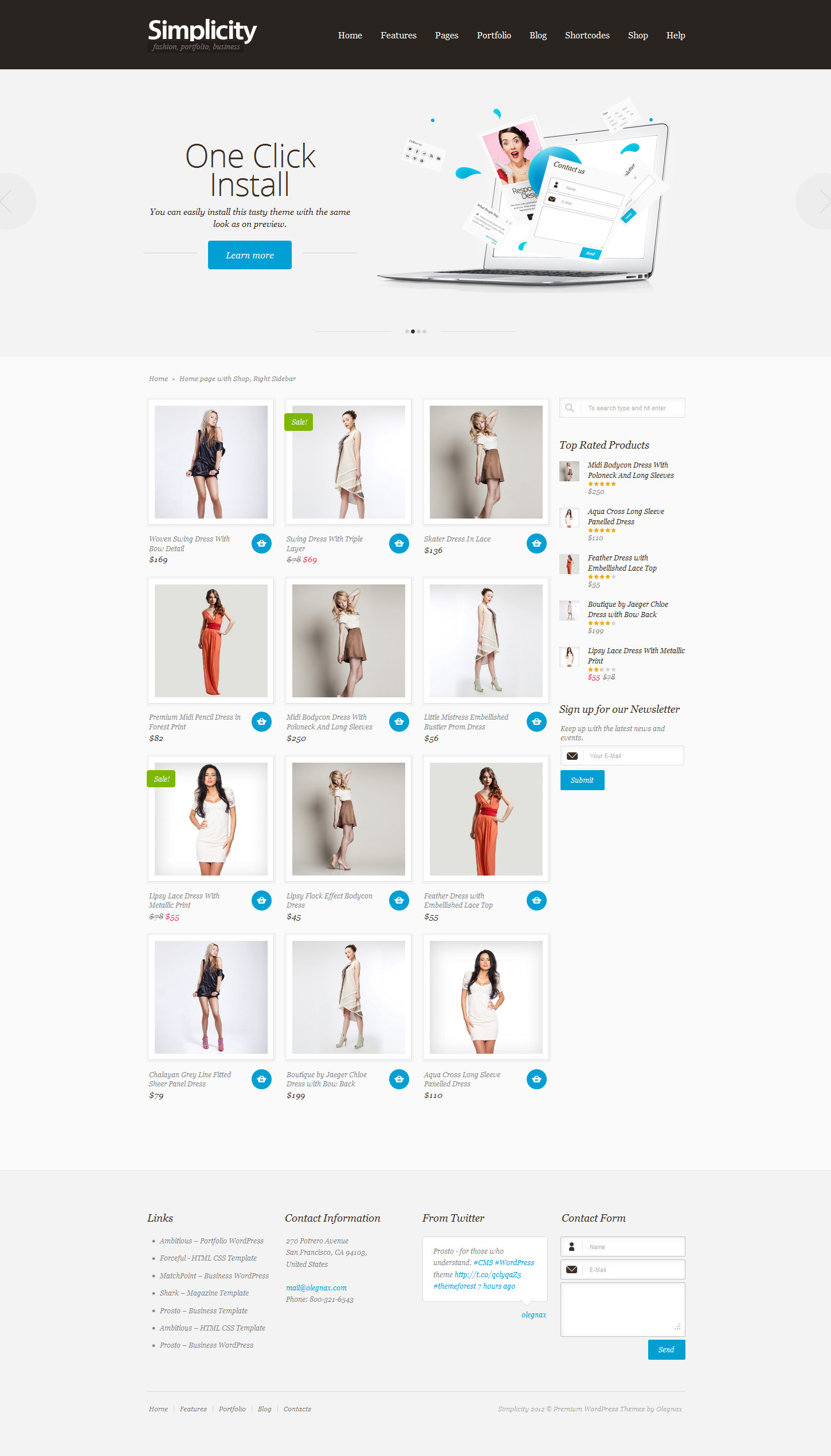 Simplicity - eCommerce WordPress Theme, Responsive