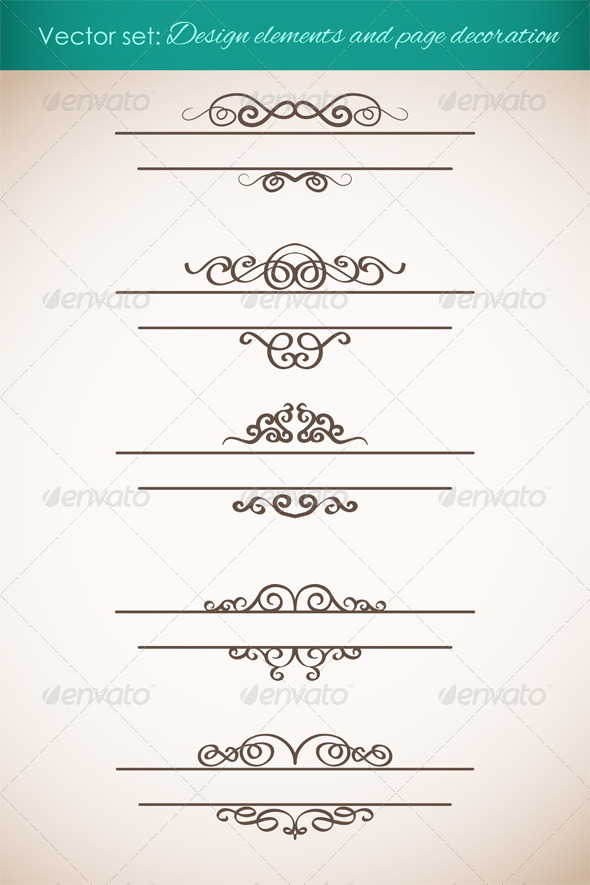 GraphicRiver Design Elements and Page Decorations Set 4599846