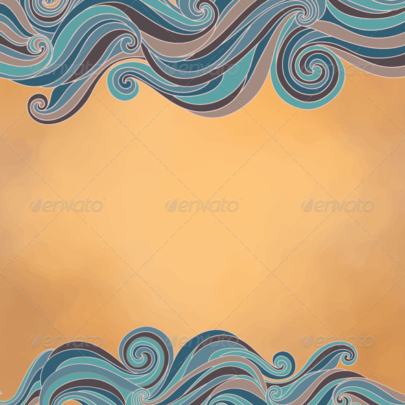 GraphicRiver Abstract Background with Waves Paper Texture 4599942