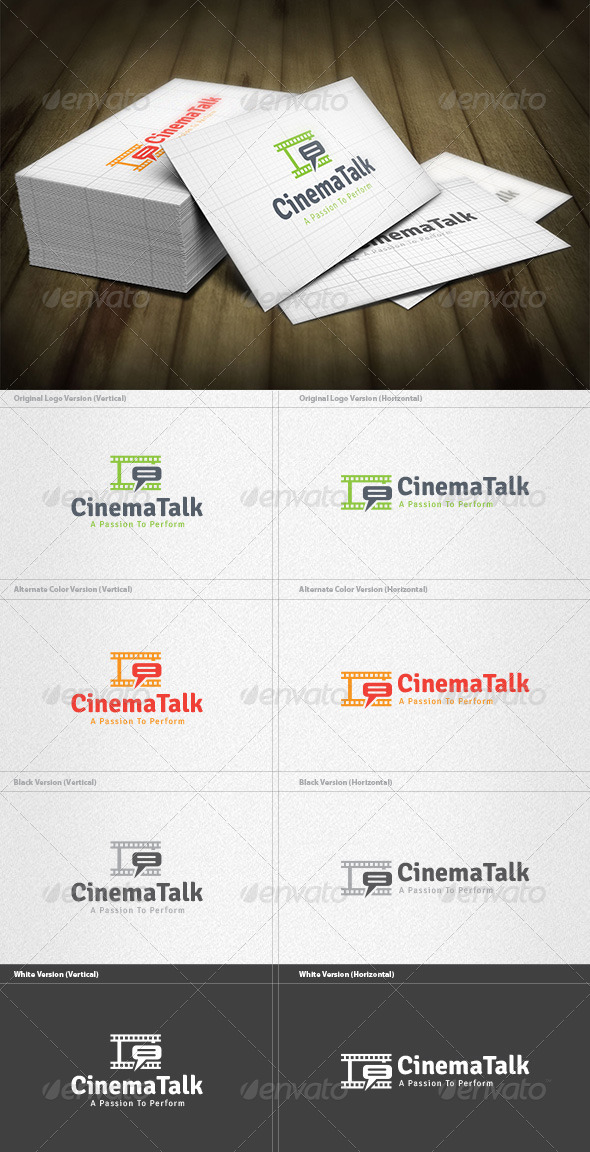 GraphicRiver Cinema Talk Logo 4599956