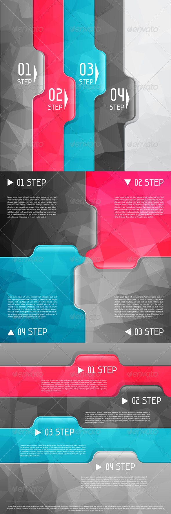 GraphicRiver Business Geometric Backgrounds 4600240