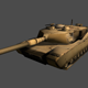 M1 Abrams Tank Lowpoly - 3DOcean Item for Sale