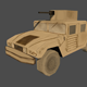 Humvee Jeep Lowpoly - 3DOcean Item for Sale