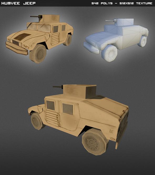 3DOcean Humvee Jeep Lowpoly 4595892
