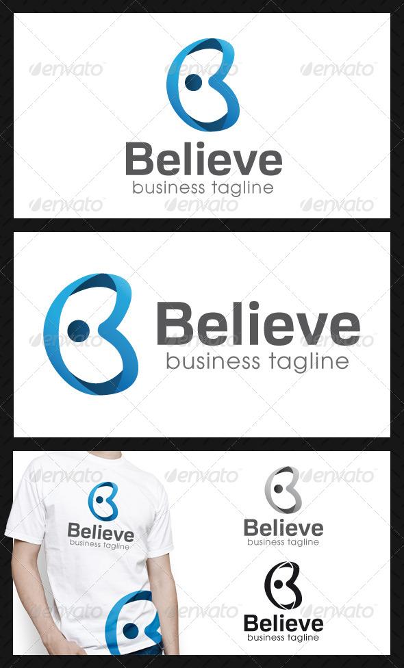 Believe Letter B Logo Template