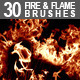 30 Fire & Flame Brushes - GraphicRiver Item for Sale
