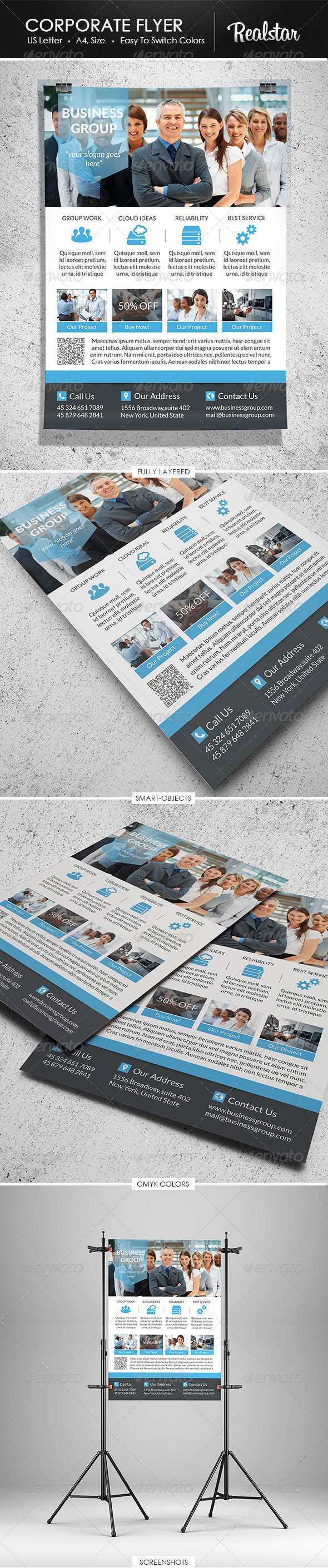GraphicRiver Corporate Flyer 4600488