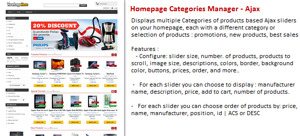 CodeCanyon Homepage Products by Categories Manager Ajax 4594864