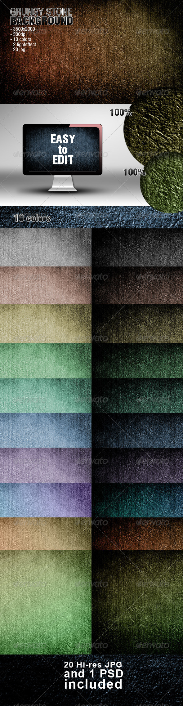GraphicRiver Grungy Stone Background 4600546