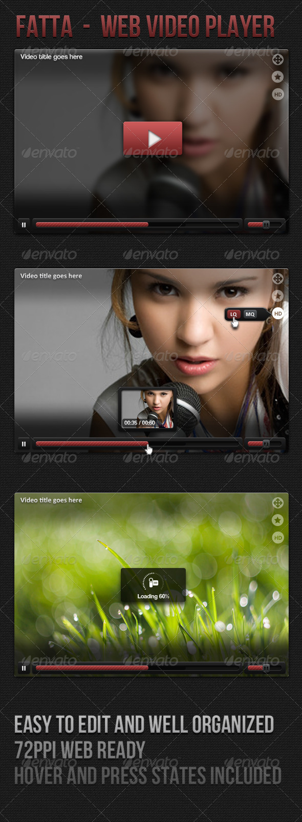 Web Video Player - Miscellaneous Web Elements