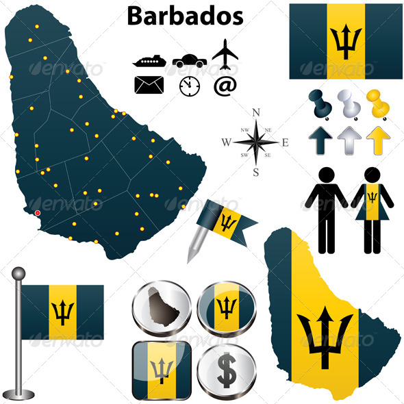 GraphicRiver Barbados Map 4600667