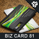 Business Card Design 81 - GraphicRiver Item for Sale