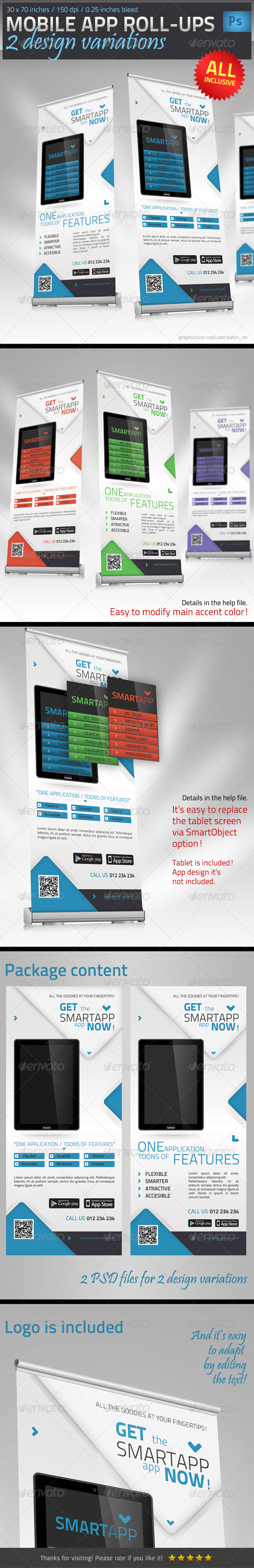 GraphicRiver Mobile App Promotion Roll-Up Template 4600737