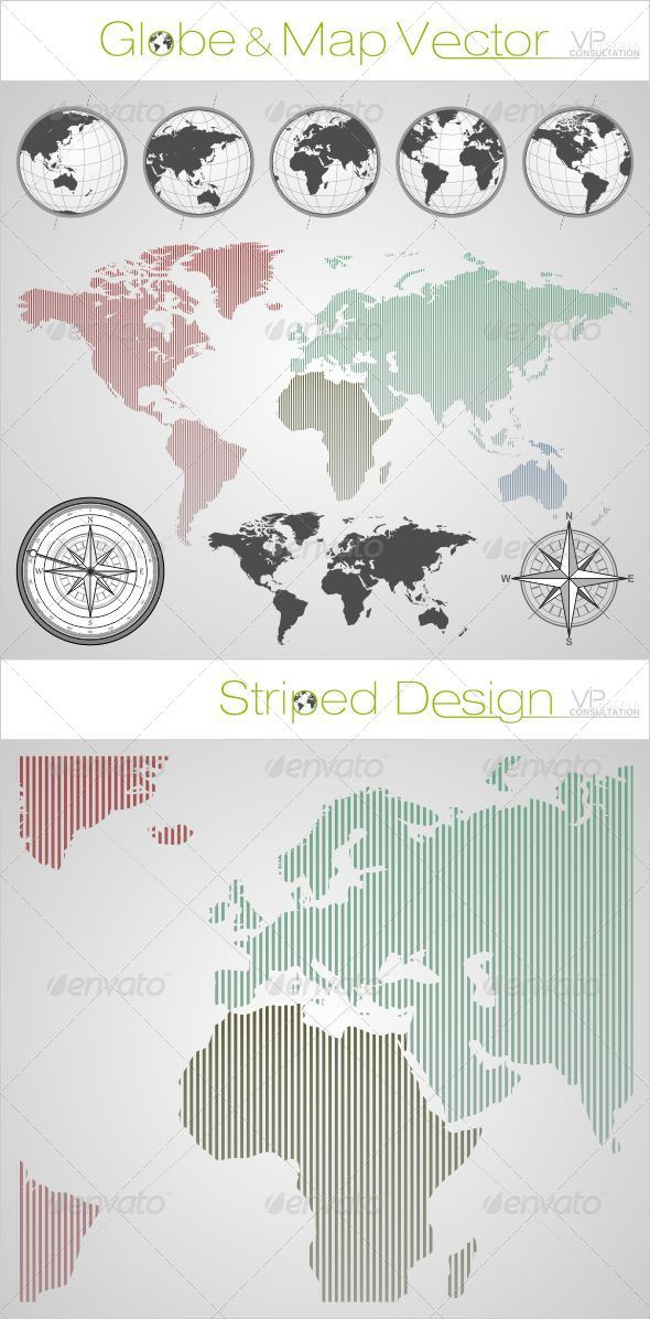 GraphicRiver Globe & World Map 4564381