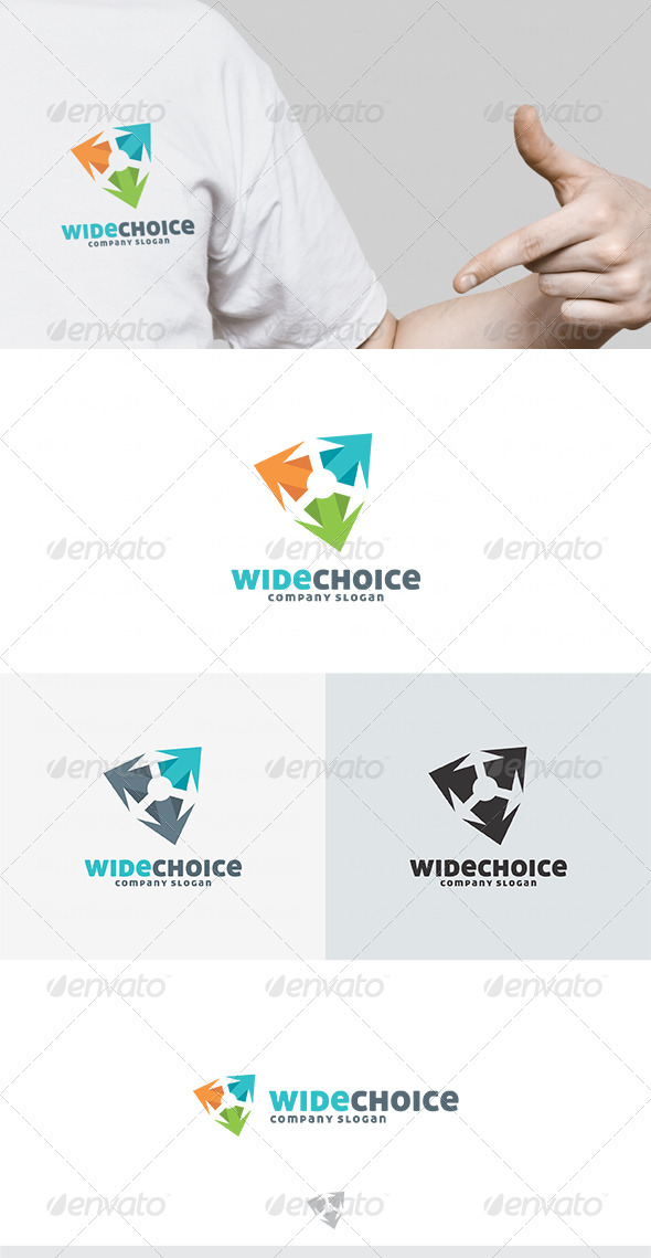Wide Choice Logo - Vector Abstract
