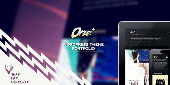 ThemeForest One Plus Portfolio Theme Just for Creatives 4453656