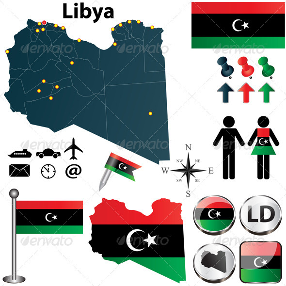 GraphicRiver Map of Libya 4602241