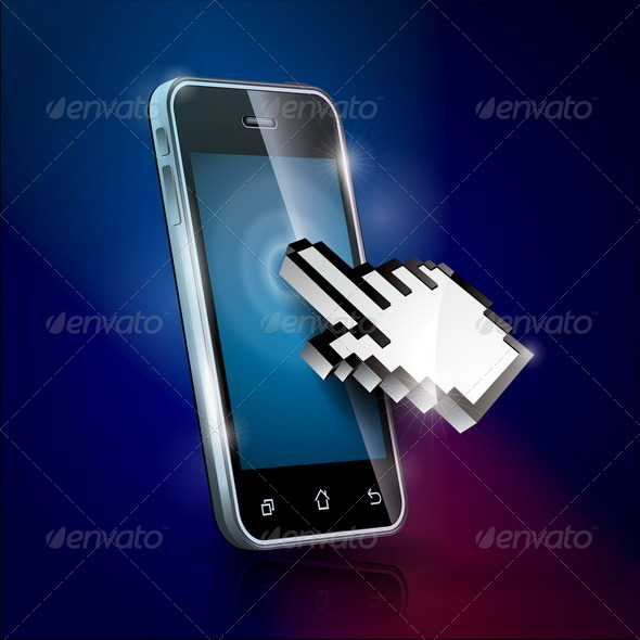 GraphicRiver Illustration with Shiny Touchscreen Phone 4602557