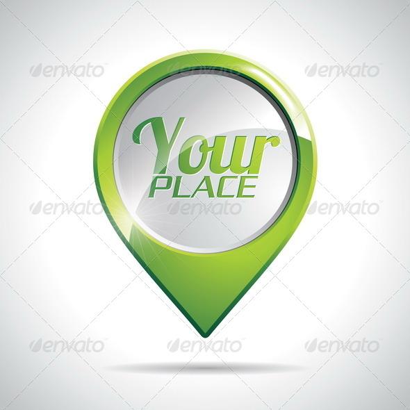 GraphicRiver Vector Green Pointer Icon 4602567