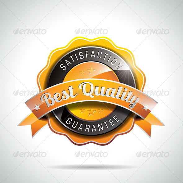 GraphicRiver Best Quality Labels Illustration 4602573