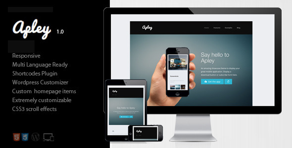 ThemeForest Apley A mobile application landing page 4586940