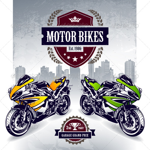 GraphicRiver Two Sport Motorbikes 4602584