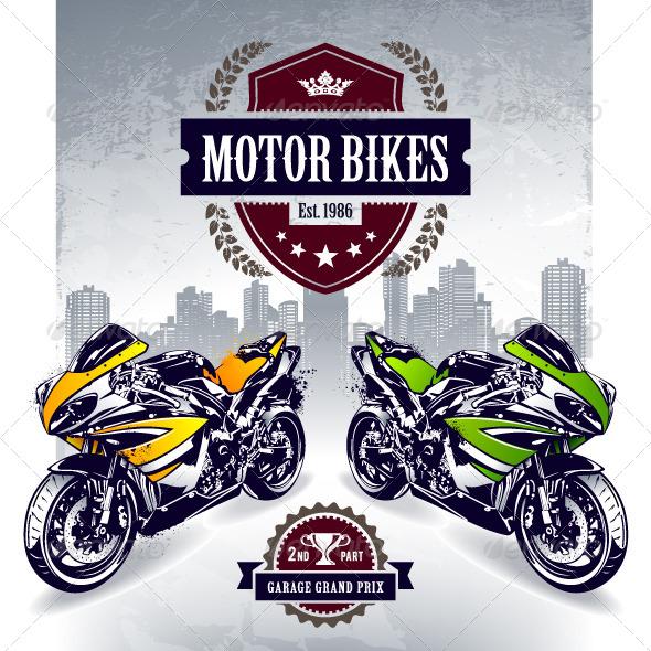 Two Sport Motorbikes