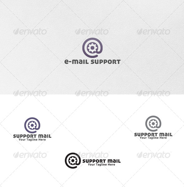 GraphicRiver Support Mail Logo Template 4602588