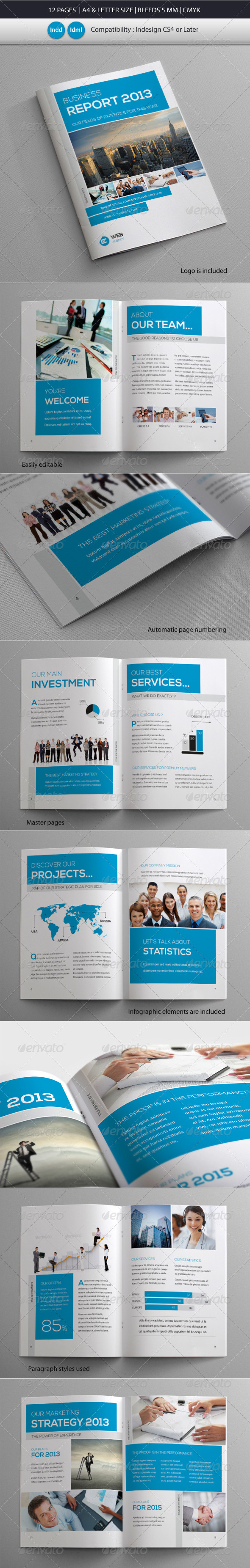 GraphicRiver Coprorate & Business Brochure Report Template 4602668