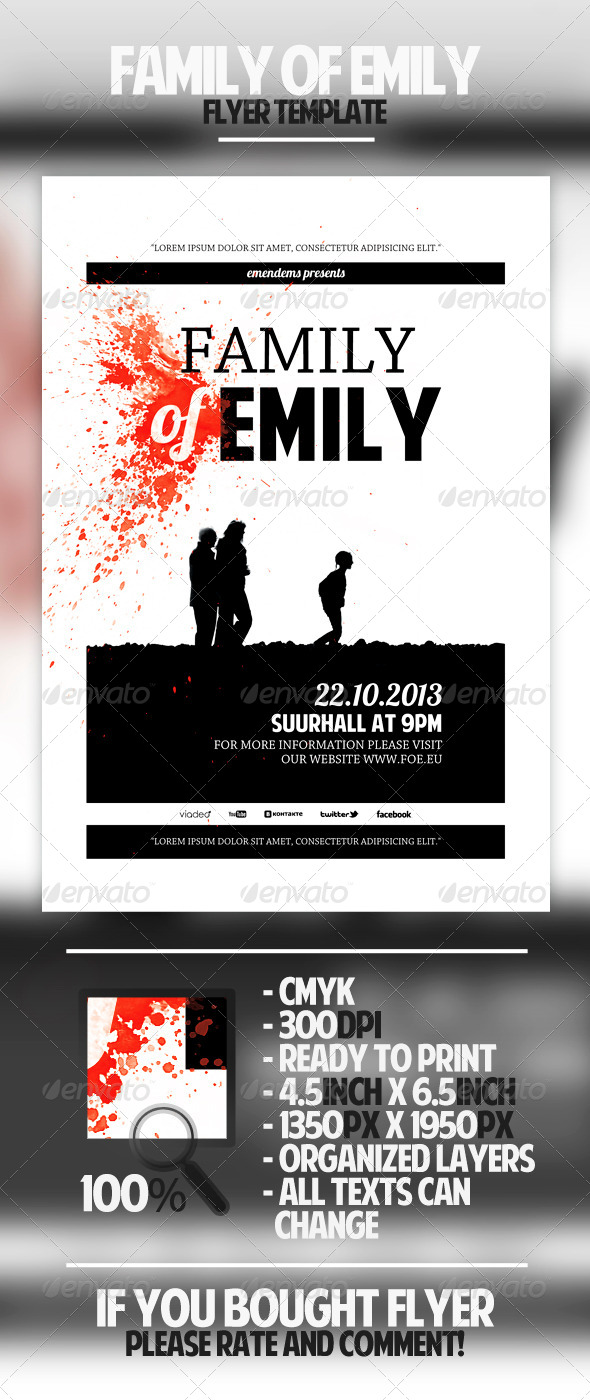 GraphicRiver Family of Emily Flyer Template 4602754