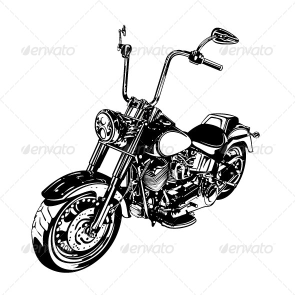 GraphicRiver Chopper Customized Motorcycle 4602813