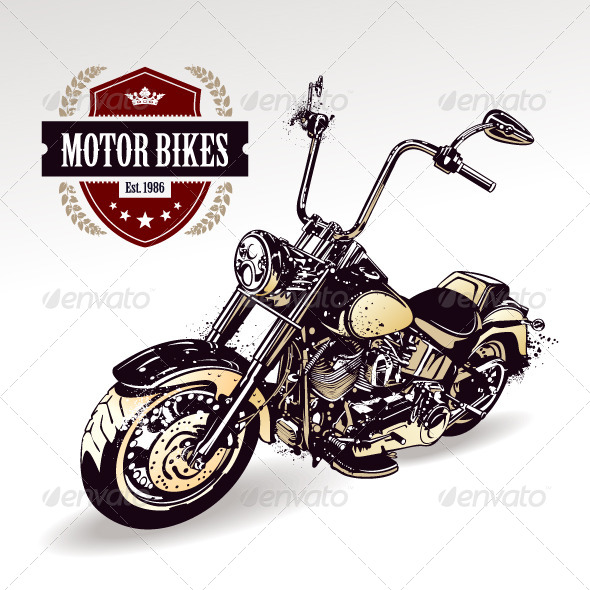 GraphicRiver Chopper Customized Motorcycle 4602818