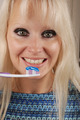 Woman brushing her teeth - PhotoDune Item for Sale