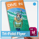 Diving Tri-Fold Brochure - GraphicRiver Item for Sale
