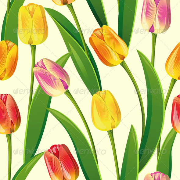 GraphicRiver Seamless from Tulips 4603008