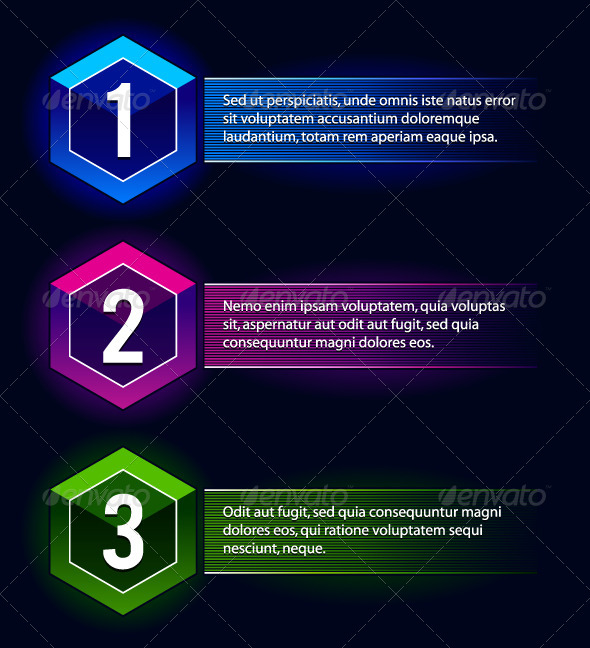 GraphicRiver Neon Number Options Banners 4603062
