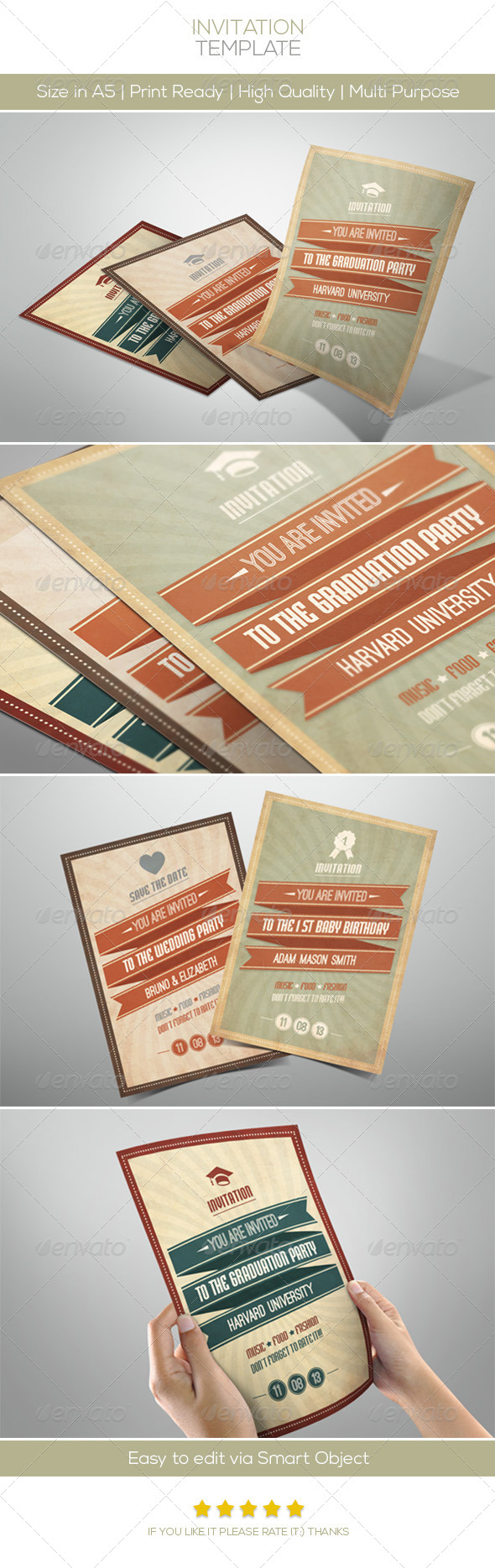 GraphicRiver Retro Invitation 4603072