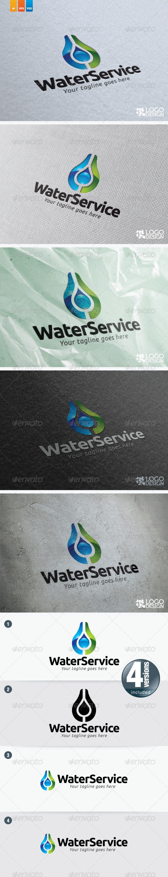 Water Service - Nature Logo Templates