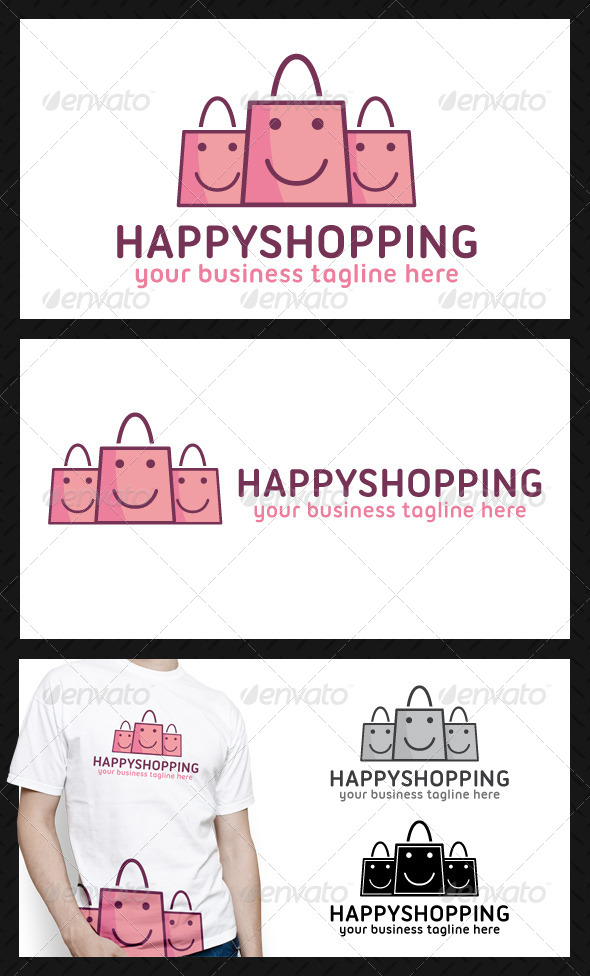 GraphicRiver Happy Shopping Logo Template 4603256
