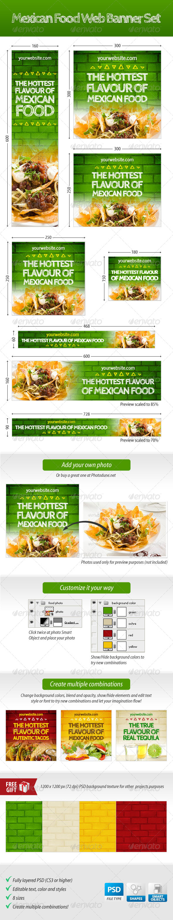 GraphicRiver Mexican Food Web Banner Set 4576529