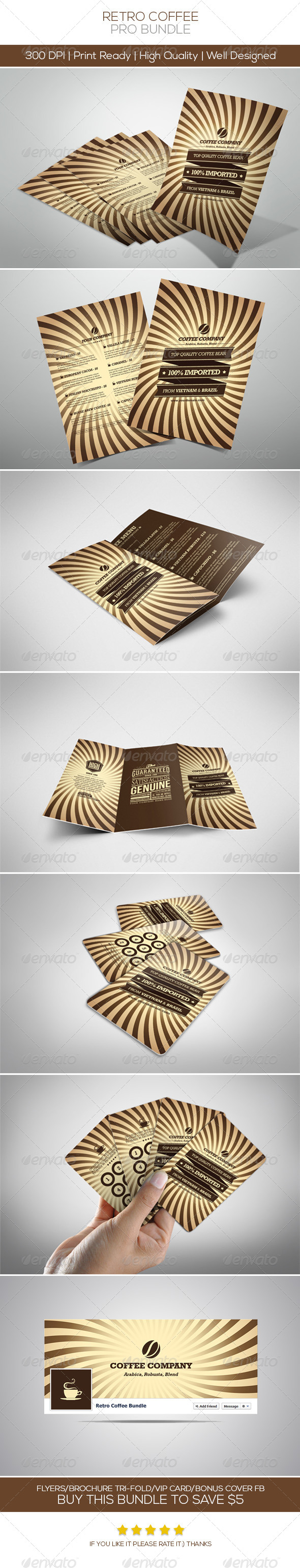 Retro Coffee Bundle - Restaurant Flyers