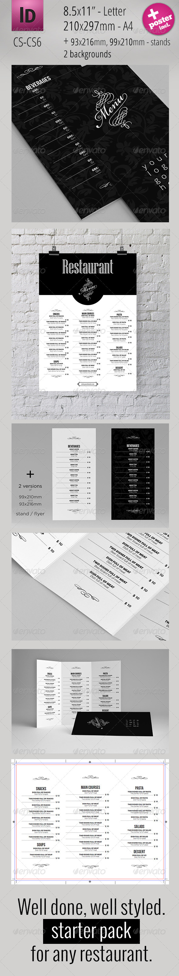 GraphicRiver Restaurant Menu Starter Pack 4526447