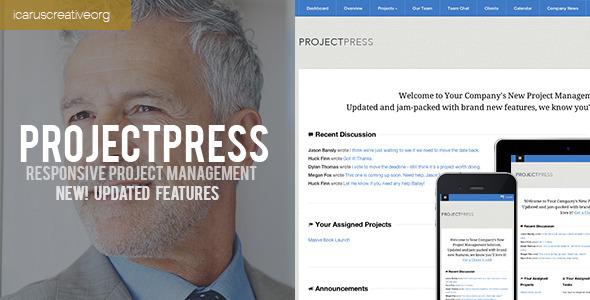 Tema de WordPress para Gestión de Proyectos: ProjectPress